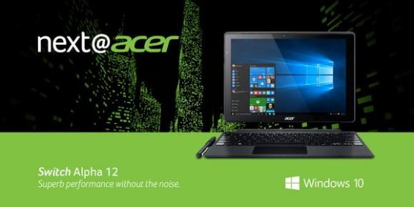 Acer представила гибрид Switch Alpha 12 с жидкостным охлаждением