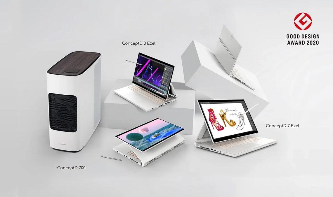 Acer ConceptD for Creators получила награду за дизайн