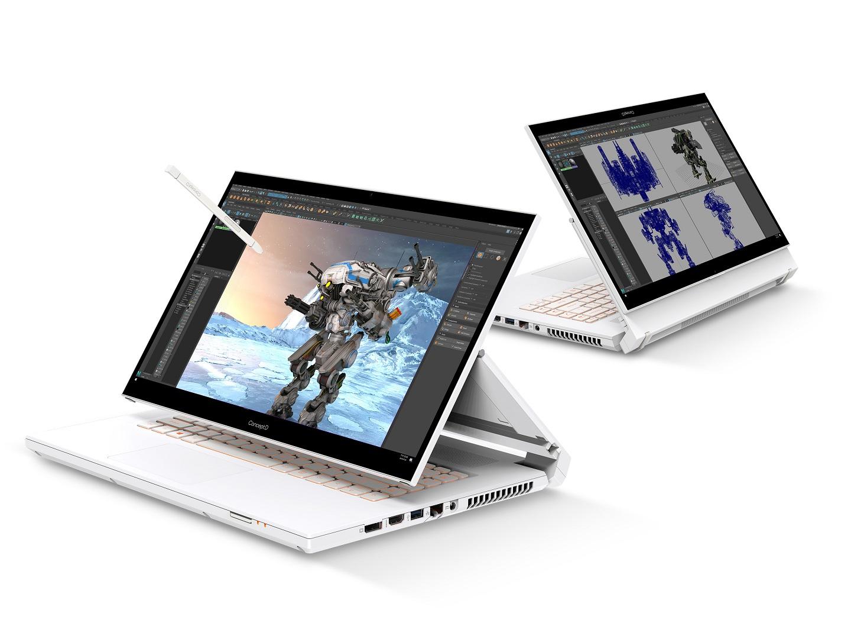 Acer обновляет свои ноутбуки ConceptD Creator процессорами Intel Core серии H 11-го поколения, графическими процессорами NVIDIA RTX для профессиональных ноутбуков и 16-дюймовыми дисплеями